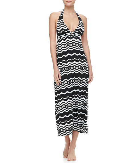 In The Groove Maxi Halter Dress Coverup