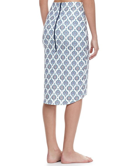 Paradise Printed Pencil Coverup Skirt
