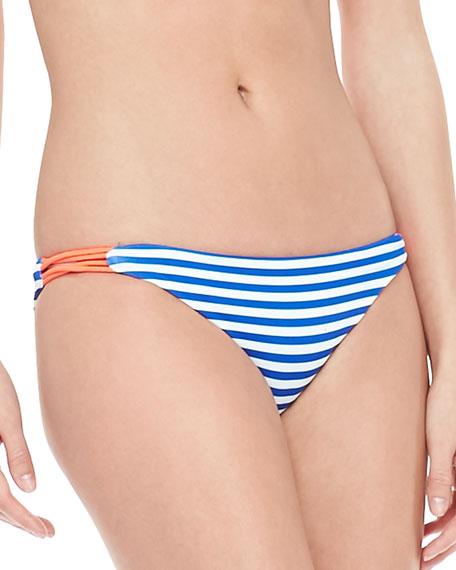Reversible Zunzal Striped Hipster Swim Bottom