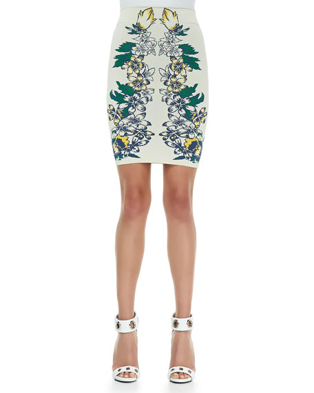 Cambrie Tiger Lily-Print Skirt