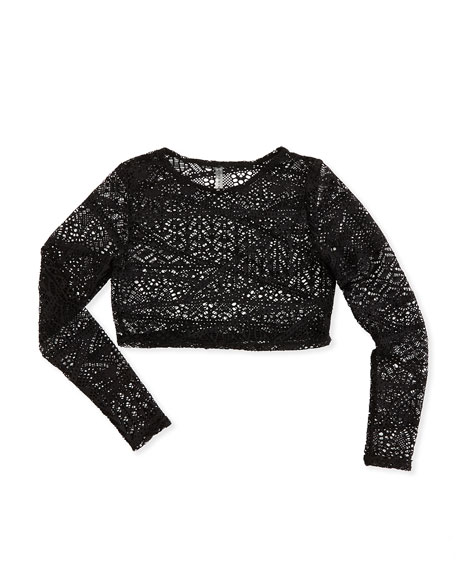 Cannes Crochet Cropped Rashguard