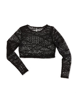 Vitamin A Cannes Crochet Cropped Rashguard