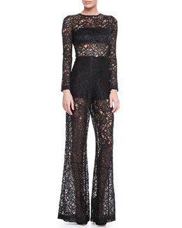 Alexis Ambra Sheer Lace Jumpsuit