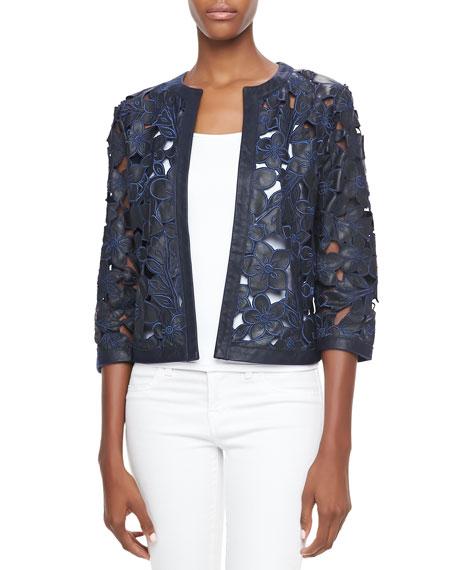 Laser-Cut Floral Jacket