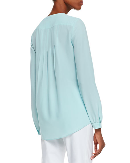 Suri Pleated Silk Top