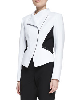 T Tahari Oriana Two-Tone Jacket