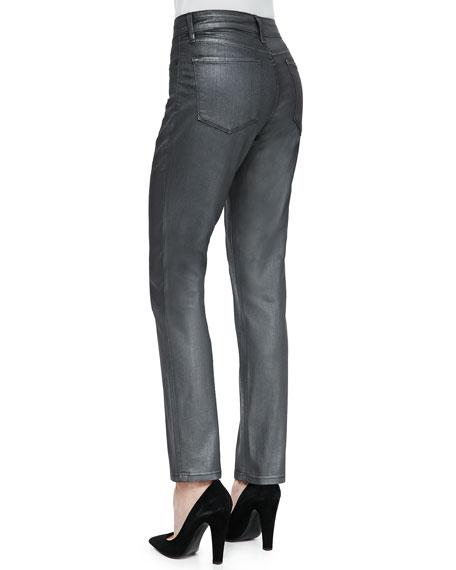 Sheri Skinny Matte Hematite Jeans