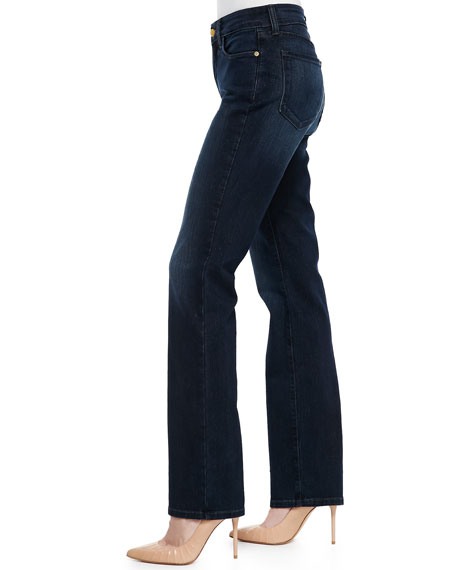 Marilyn Straight-Leg Jeans with Gold Metallic