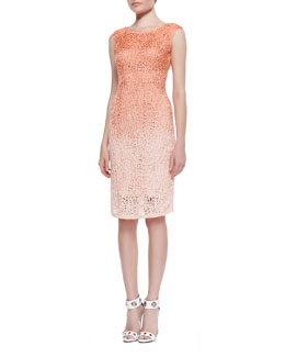 Lafayette 148 New York Cutout Ombre Sheath Dress