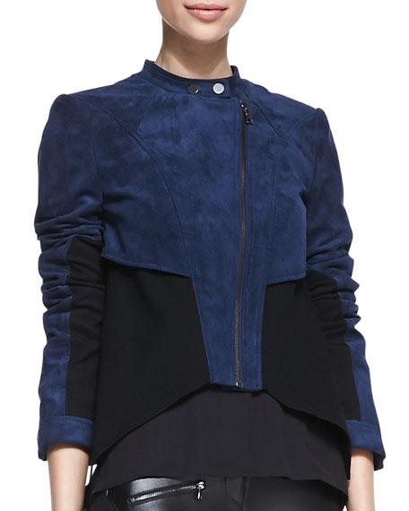 Logun Colorblock Faux-Suede Jacket