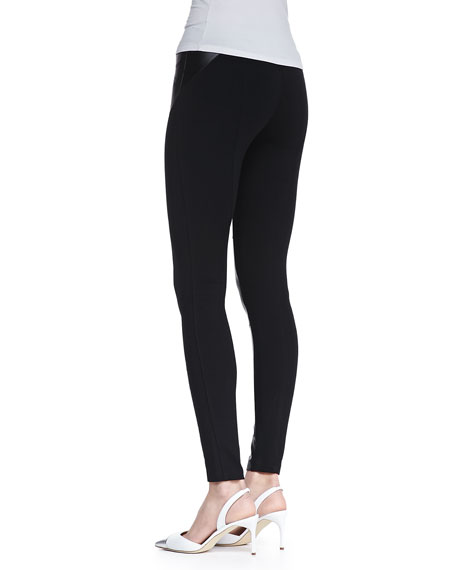 Stephen Moto Faux-Leather Leggings