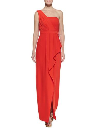 BCBGMAXAZRIA Kristine One-Shoulder Gown