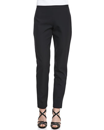 Natalie Straight-Leg Twill Pants