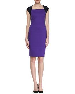 T Tahari Moxie Bicolor Sheath Dress