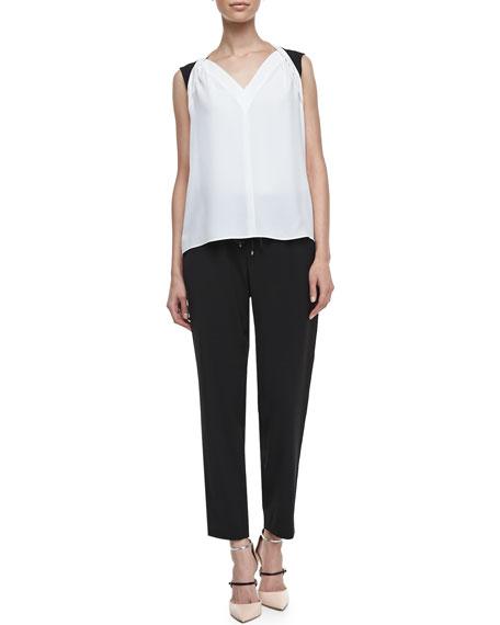 Loren Drawstring Pants, Black