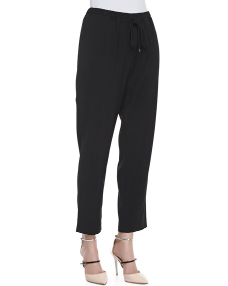 Loren Drawstring Pants, Black