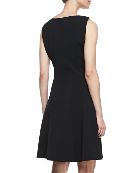 Alexina Sleeveless A-line Dress, Black