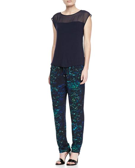 Loren Printed Jersey Drawstring Pants