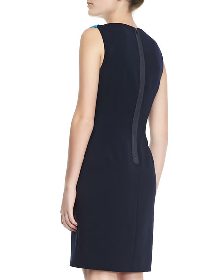 Ellen Sleeveless Two-Tone Dress