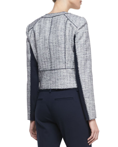 Willow Metallic Tweed Snap Jacket