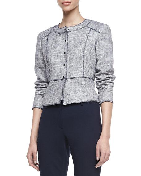 Willow Metallic Tweed Snap Jacket