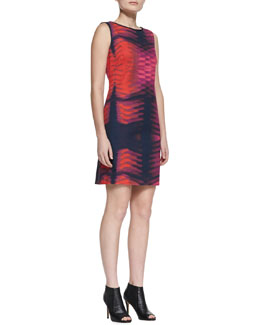 T Tahari Kae Printed Jersey Dress