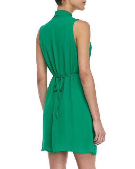 Sleeveless Cross-Front Dress