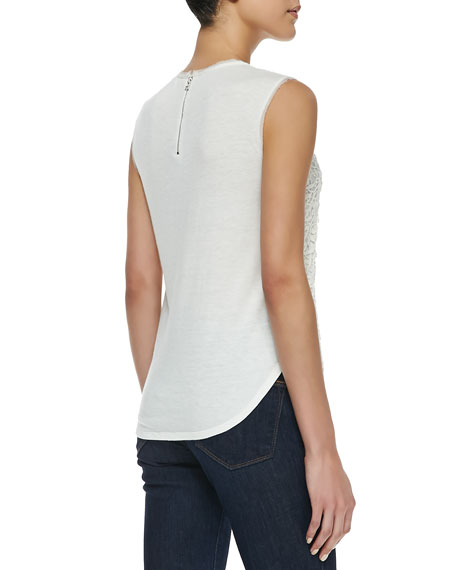 Guipure Lace-Overlay Tank