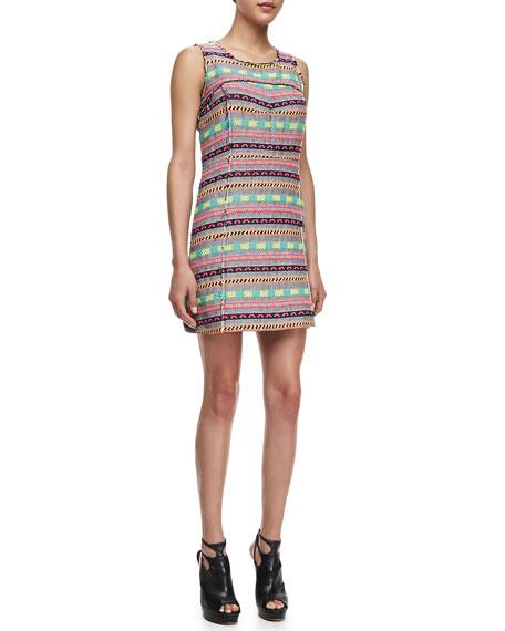 Raw-Edge Tweed Dress