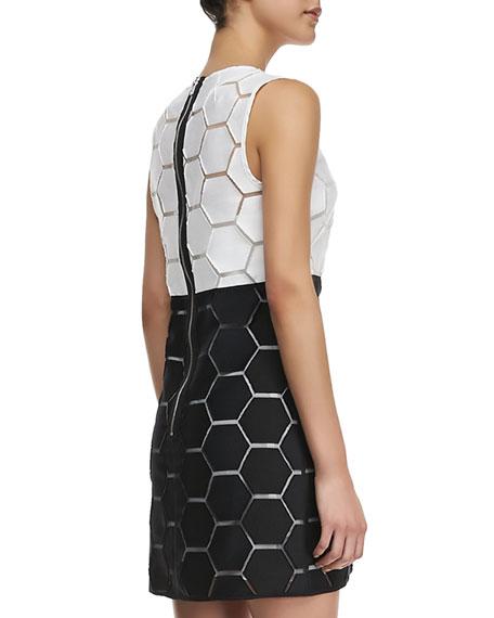 Eloise Hexagon Shift Dress