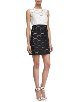 Milly Eloise Hexagon Shift Dress
