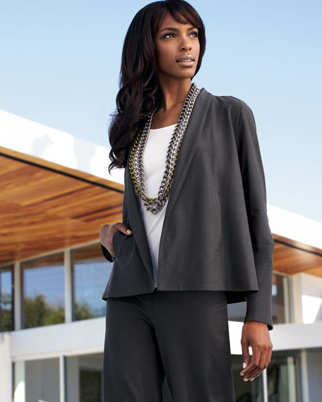 Short Crepe Jacket, Women's