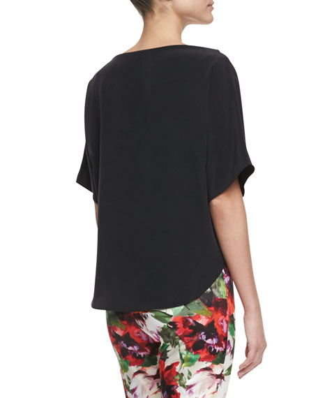 Silk Dolman-Sleeve Top