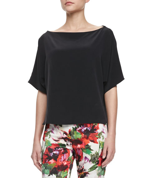 Silk Dolman-Sleeve Top