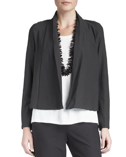 Eileen Fisher Short Crepe Jacket
