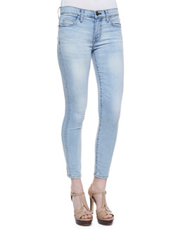Current/Elliott Stiletto Faded Skinny Jeans, Clear Water