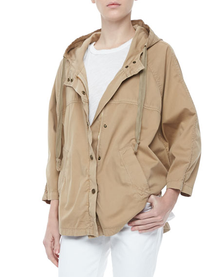 The Cadet Hooded Poncho Jacket