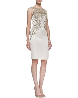Sue Wong Sequined Bodice Cocktail Dress