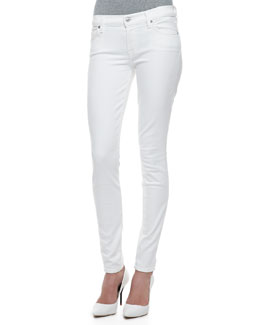 7 For All Mankind The Skinny Slim Illusion, White