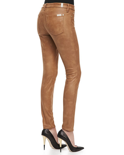 Jeans Under Leathers Leather-like Jeans Cognac