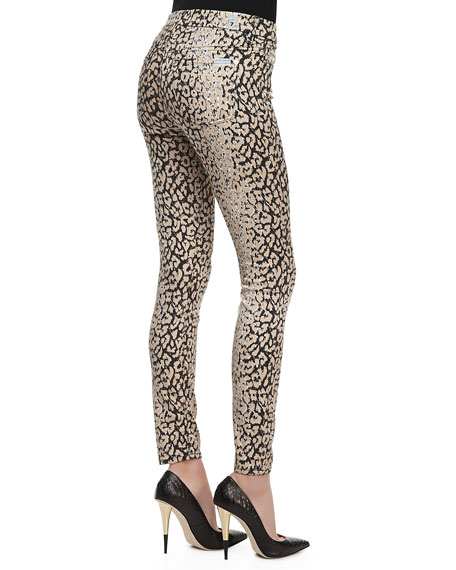 The Skinny High-Waist Leopard-Print Pants