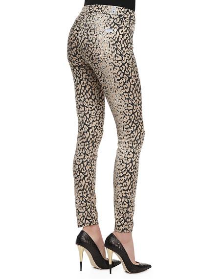 The Skinny High-Waist Leopard-Print Pants