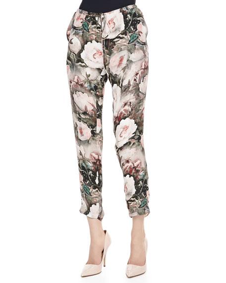 Dream Floral Print Drawstring Pants