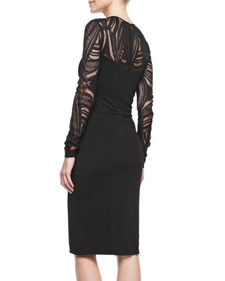 Deco Lace Jersey Dress