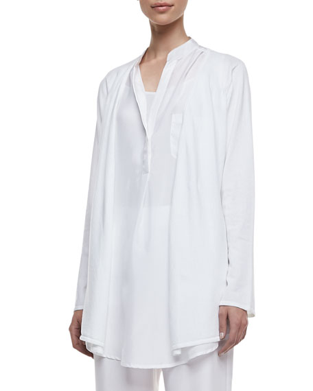 Long-Sleeve Open Duster