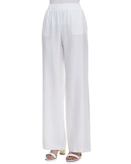 Minnie Rose Silk Palazzo Pants