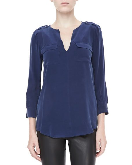Marlo Two-Pocket Blouse