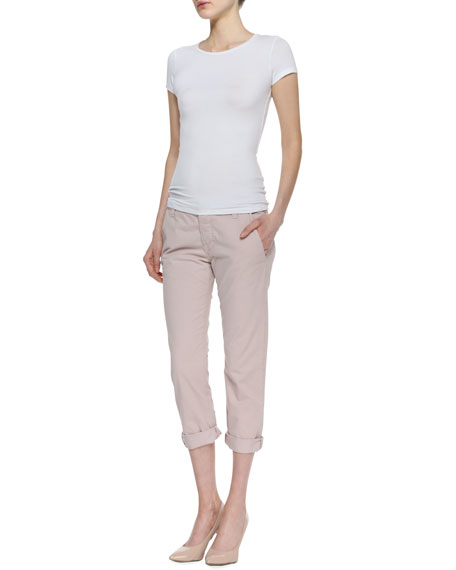 Inez Low-Rise Cropped Chinos