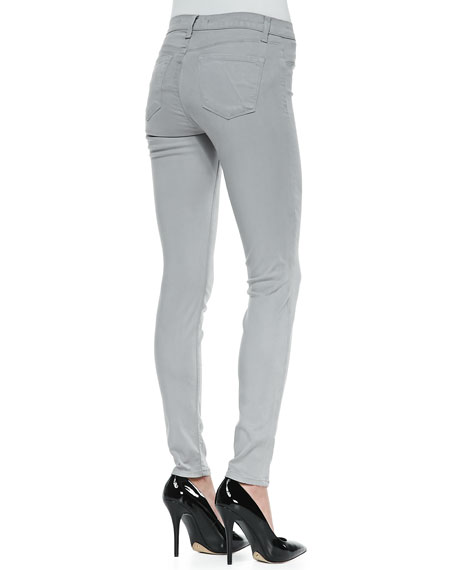 Luxe Sateen Skinny Pants, Limestone