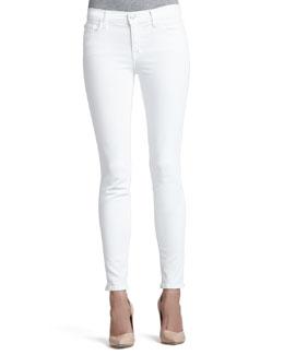 J Brand Jeans 811 Blanc Mid-Rise Skinny Jeans